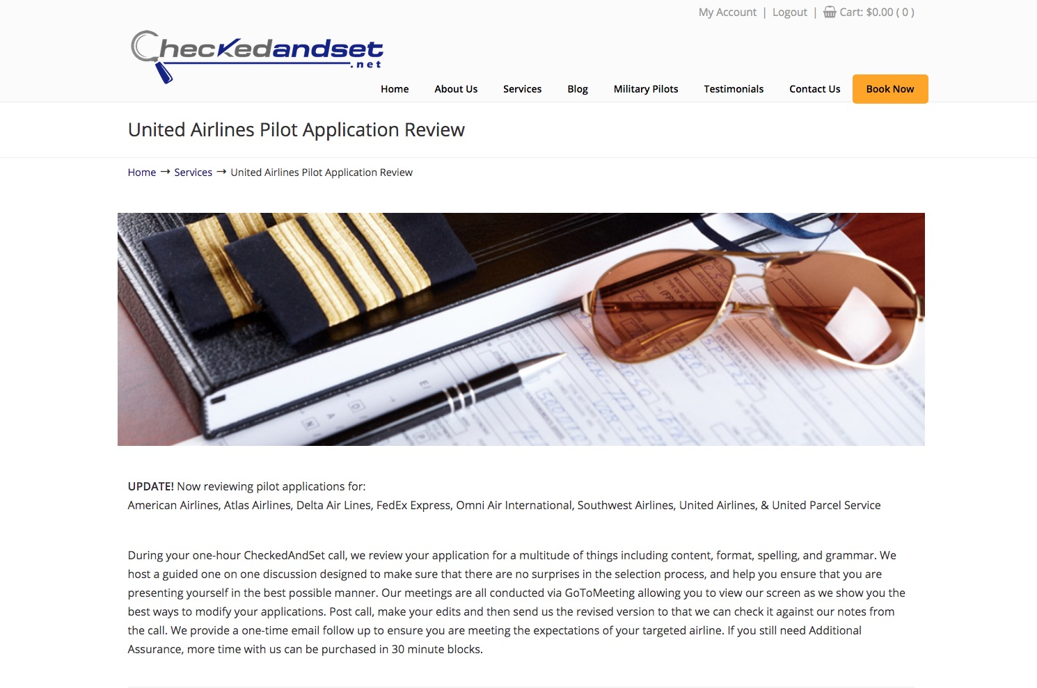 united airlines pilot application process